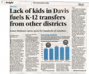 Sac Bee - Lack of Kids in Davis Fuels K-12 Transfers - WK1217_Page_1