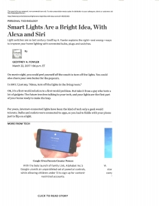 Wall Street Journal - Smart Lights Are A Bright Idea - 3.22.2017_Page_1